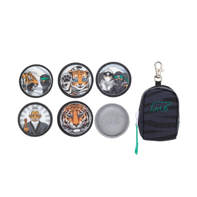 Classic ninja tiger, seks forskjellige buttons i medfølgende bag