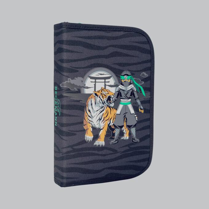Ettlagspennal ninja tiger, gråsvart med mønster