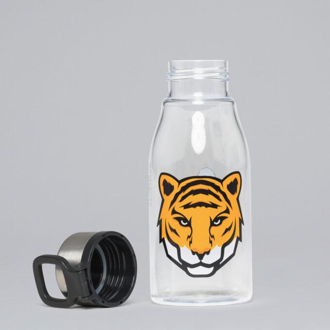 Drikkeflaske tiger team, skrukork med krok til å holde i