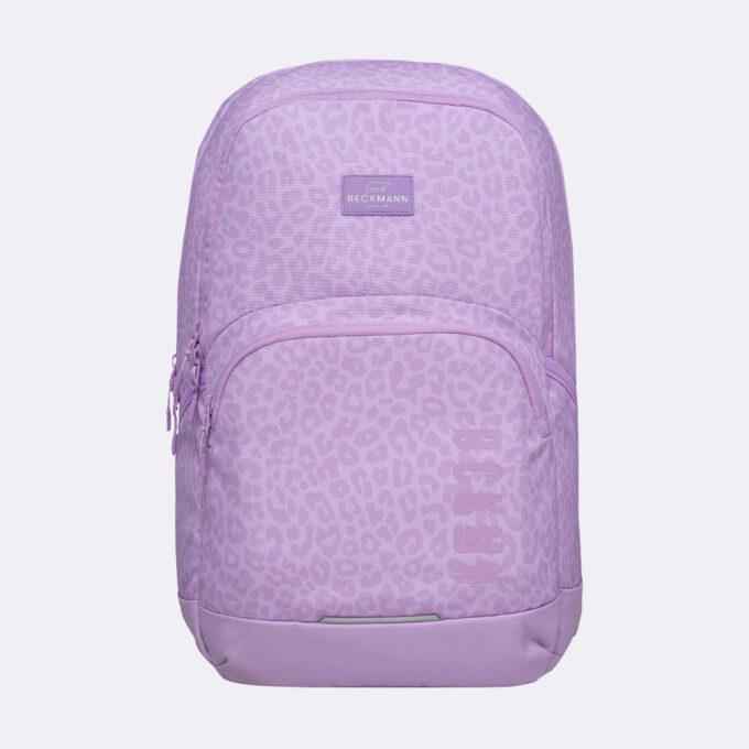Sport junior, purple skolesekk, frontbilde, lilla med mønster