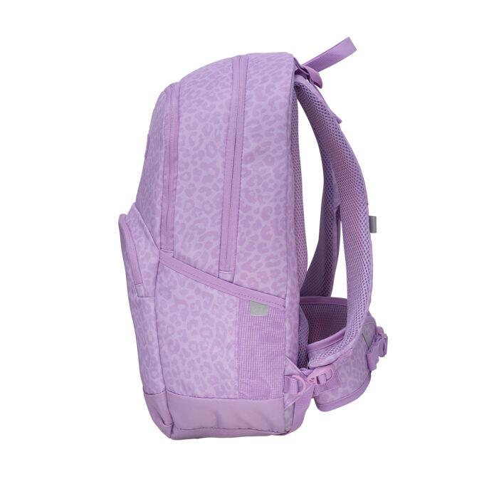Sport junior, purple skolesekk, sidebilde, utvendig rom til drikkeflaske