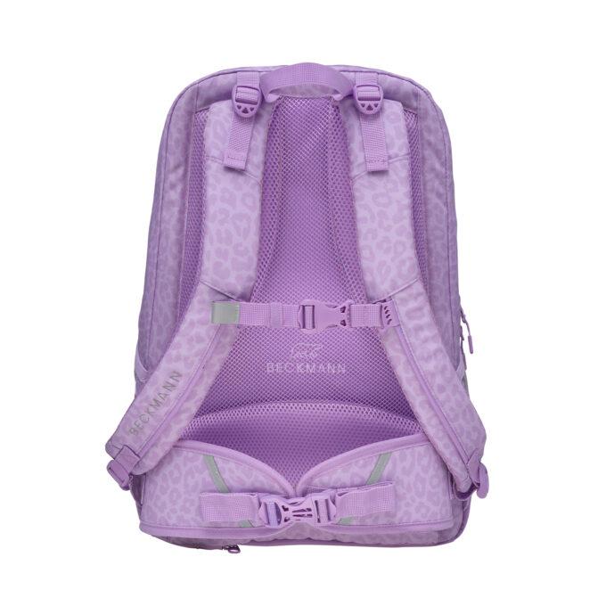 Sport junior, purple skolesekk, ryggsiden, god polstring, brystreim