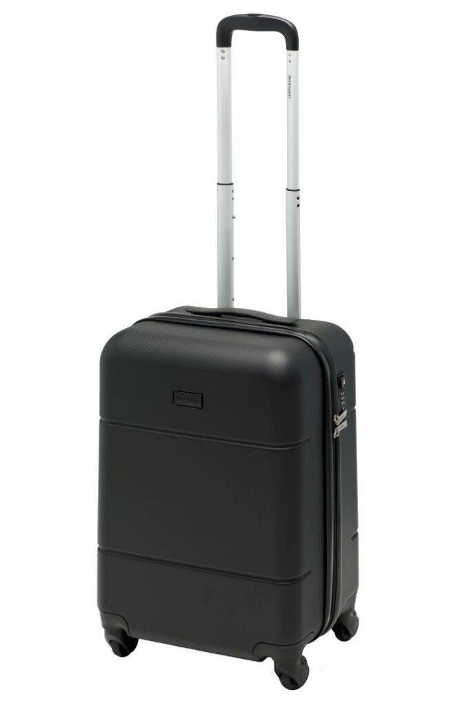 Trillekoffertsett, sort, minste størrelsen, frontbilde, rent design