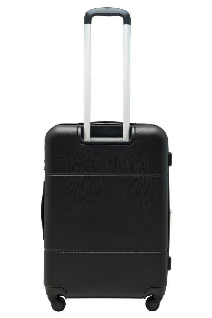 Trillekoffertsett, sort, medium størrelsen, baksiden, rent design