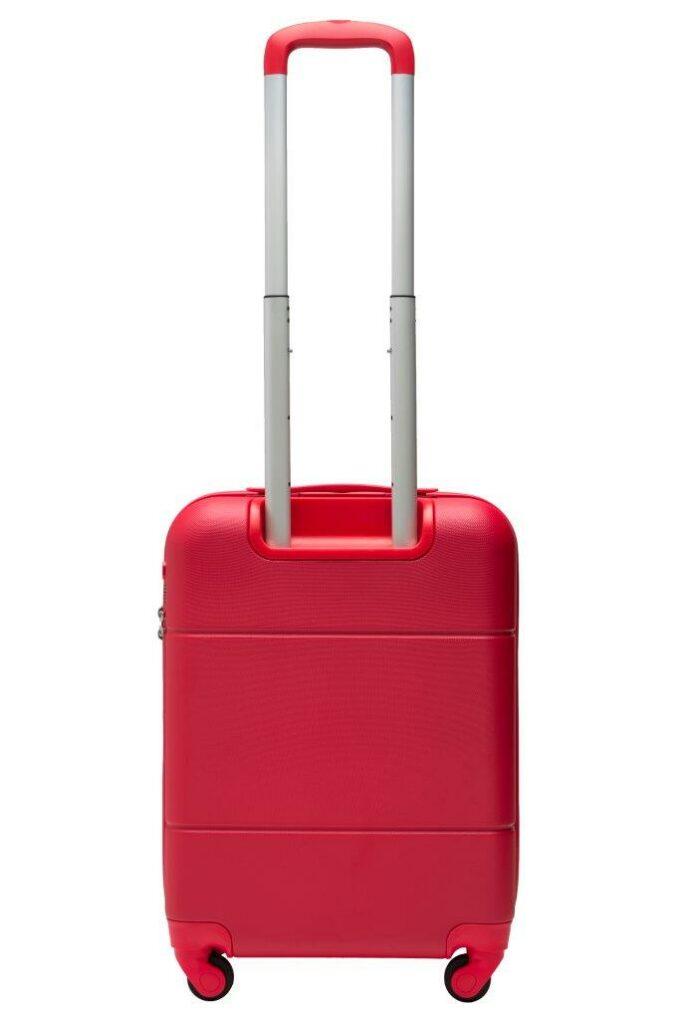 Trillekoffertsett, rød, minste størrelsen, baksiden, rent design