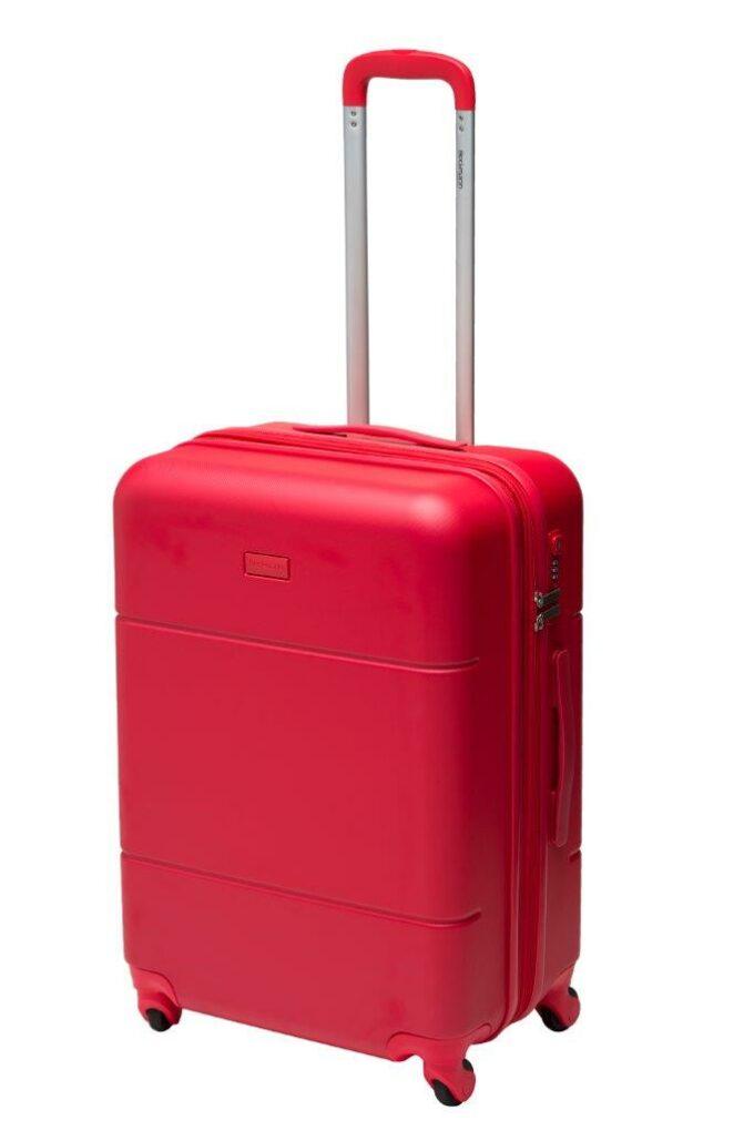 Trillekoffertsett, rød, medium størrelsen, frontbilde, rent design