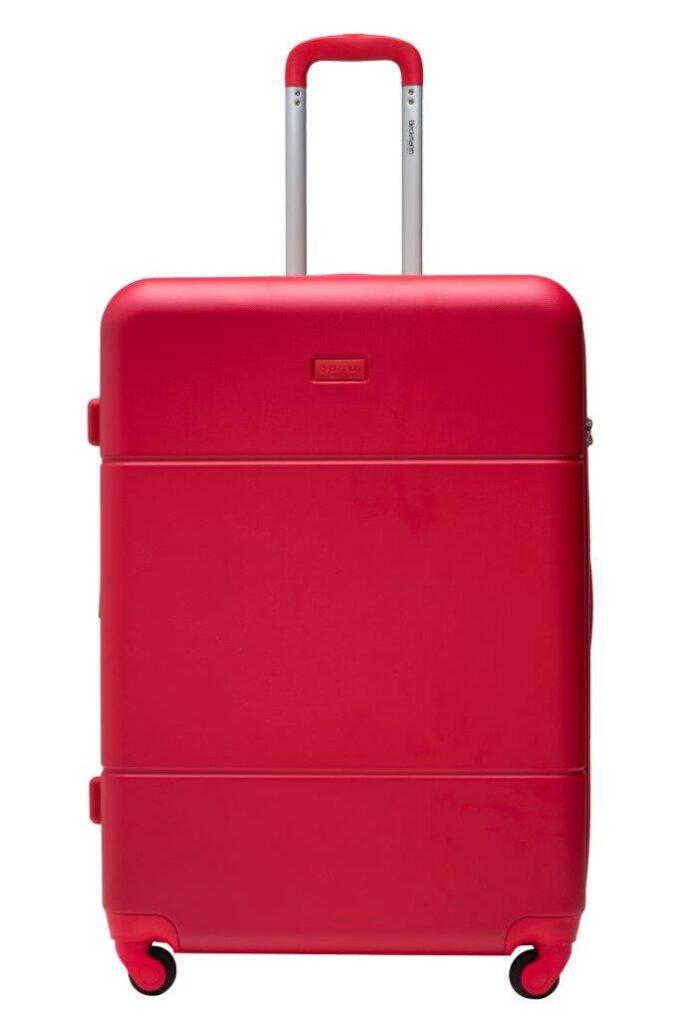 Trillekoffertsett, rød, største størrelsen, frontbilde, rent design