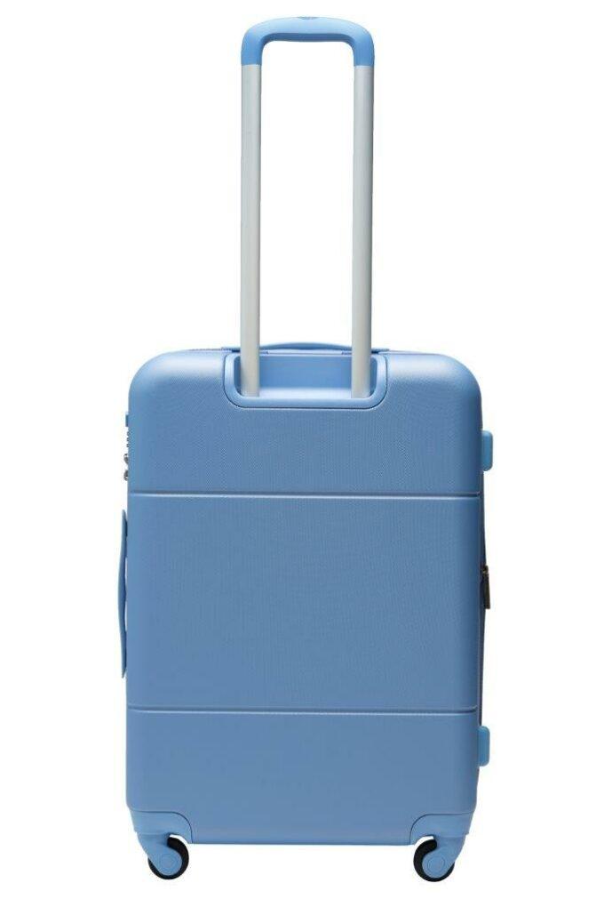 Trillekoffertsett, denim, medium størrelsen, baksiden, rent design