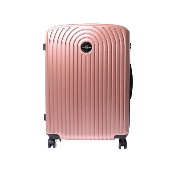 Motion, trillekoffertsett, rose pink, største størrelsen frontbilde