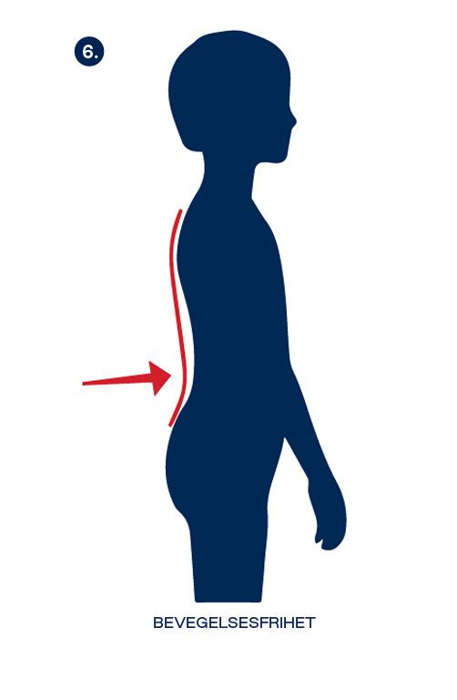 om beckmanns-ergonomiske prinsipper, bevegelesfrihet