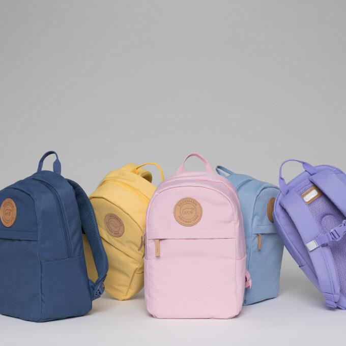 Urban mini, 10 liter, barnehagesekk, dusty blue, yellow, light pink, blue, purple