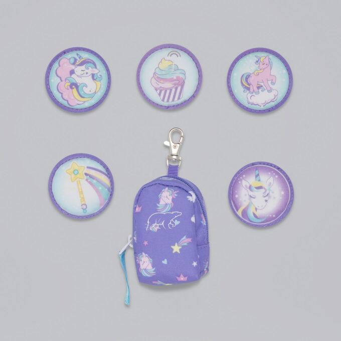 Button bag, dream, minisekk med ekstra buttons til å feste på skolesekken, 5 forskjellige design