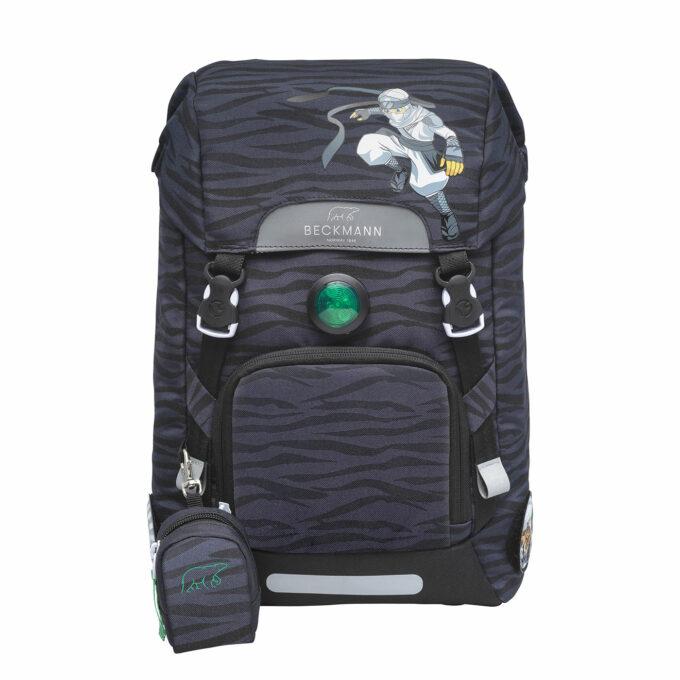 Classic ninja tiger, grå, blinklys i front, vendbar frontlomme, buttonbag
