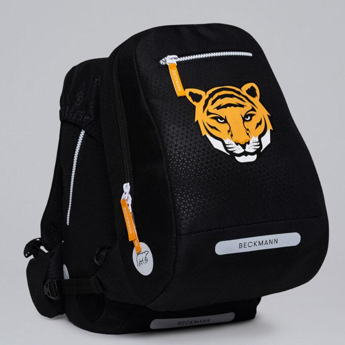 Gym-/tursekk tiger team, festes enkelt til skolesekken