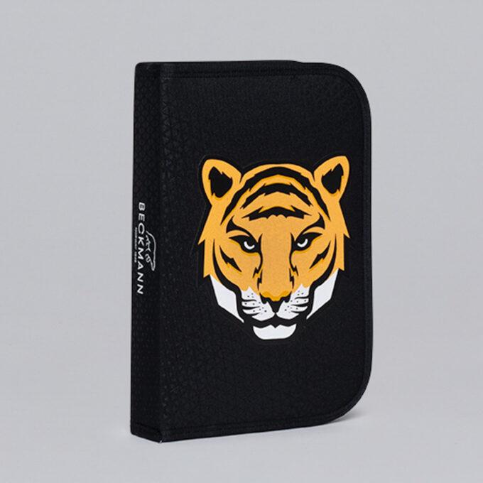 Ettlagspennal tiger team, svart med tiger mønster