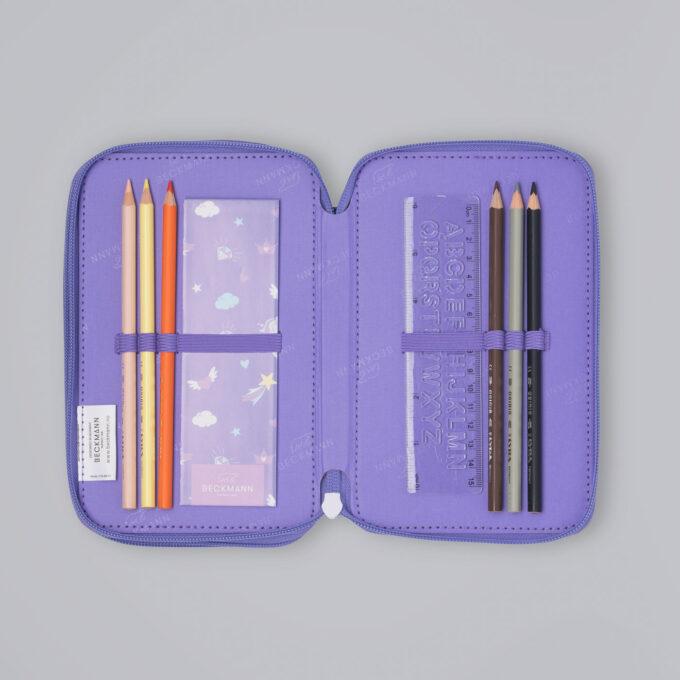Trelagspennal dream, medfølgende fargeblyanter, linjal, notatbok