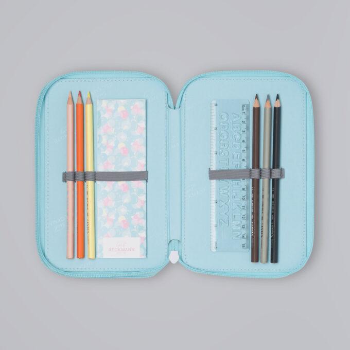 Trelagspennal sweetie, medfølgende fargeblyanter, linjal, notatbok