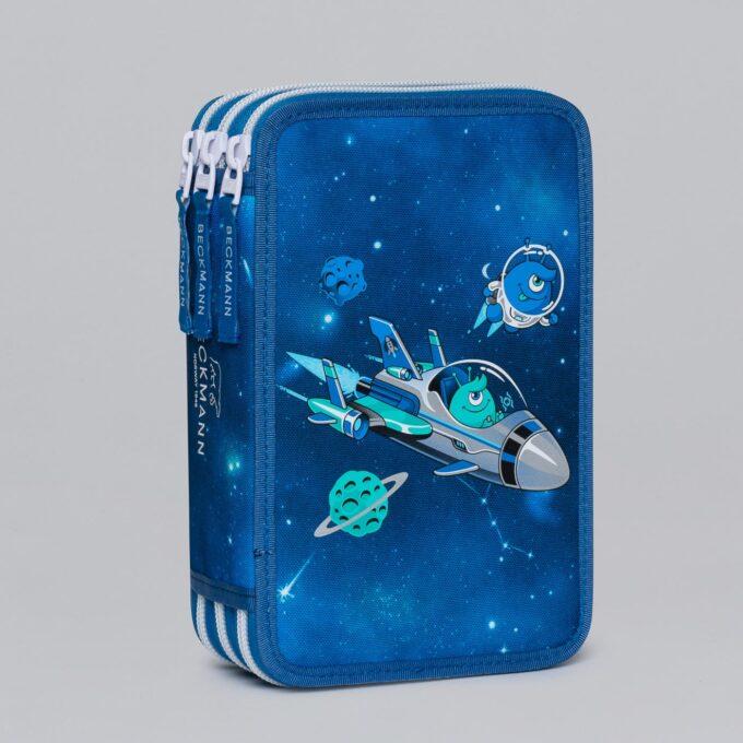 Trelagspennal galaxy, blå med mønster, tre separate rom