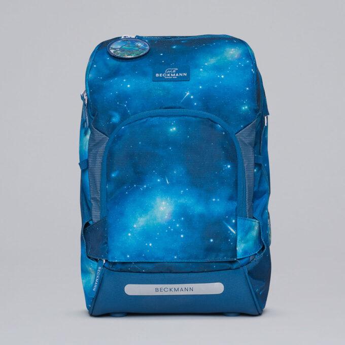 Active Air FLX galaxy, blå med stjernemønster, front, lomme i front som kan vrenges å bli mer nøytral