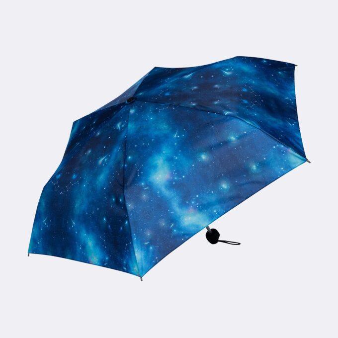 Paraply galaxy, blå stjernehimmeldesign