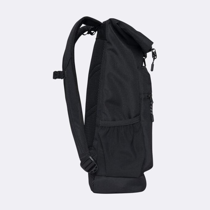 Sport light rolltop, black gymsekk, sidebilde, utvendig rom til drikkeflaske
