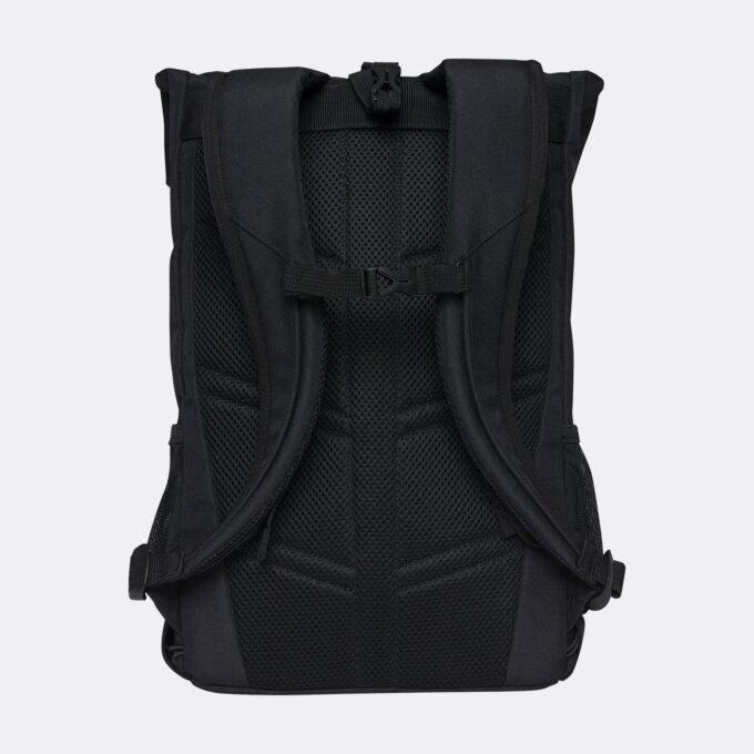 Sport light rolltop, black gymsekk, ryggsiden, god polstring i ryggen og i skulderremmene