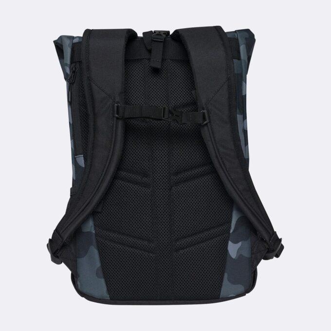 Sport light rolltop, camo gymsekk, ryggsiden, god polstring i ryggen og i skulderremmene