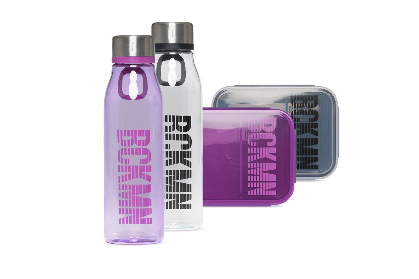 Matboks og drikkeflasker